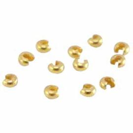 DQ knijpkraal verberger 4mm goudkleur 10 stuks 25785