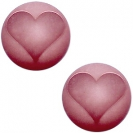 Cabochon Polaris 20mm hart matt antique pink 17349