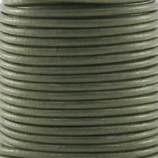 DQ Leer rond 2mm licht grijs per 20cm