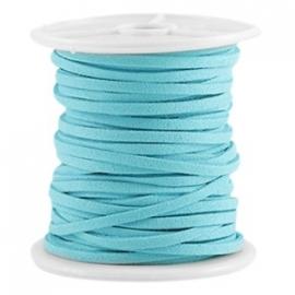 Imitatie suede 3mm indicolite blue 24855