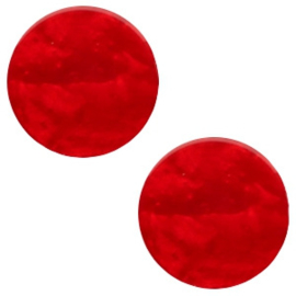 Cabochon Polaris plat 7mm mosso shiny scarlet red 41772