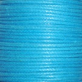 Waxkoord  turquoise 1mm per meter