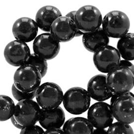 Natuursteen kraal  8mm glitterline antracita black 41489