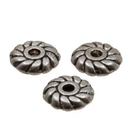 Metalen kralen plat rond 5x1mm K309