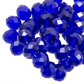 Facet 4x3mm rondel cobalt blue G204