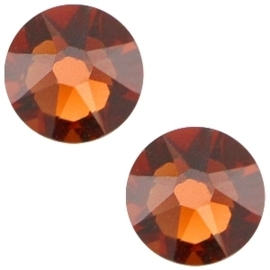 Swarovski Elements SS34 flatback Xirius Rose smoked topaz 26958