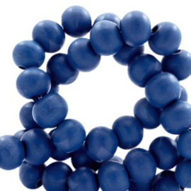 Houten kralen 8mm galaxy blue 60642 10 stuks