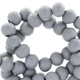 Houten kralen 6mm cool grey 46169 10 stuks