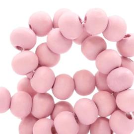 Houten kralen 8mm light ballet pink 50185 10 stuks