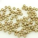 Knijpkraal 1mm 50 stuks goudkleur