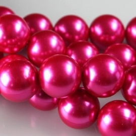 Glasparel 8mm rond fel roze
