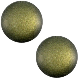 Cabochon Polaris 12mm soft tone matt army green 33381
