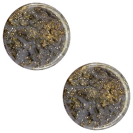 Cabochon Polaris 12mm plat stardust dark grey 38572