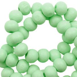 Houten kralen 8mm spearmint green 60656 10 stuks