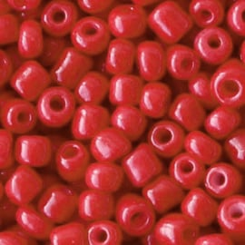 Rocailles 4mm 6/0 crimson red 68265