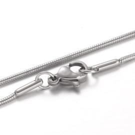 RVS ketting snake chain 0,8mm, 45cm STAS-M174-018P-B