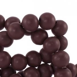 Houten kralen 12mm warm cherry bruin