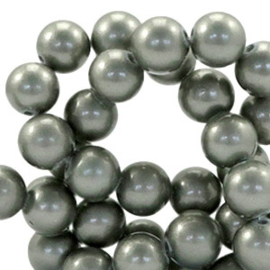 Glaskraal 8mm pearl coating greenish grey 41509