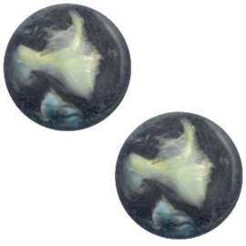 Cabochon Polaris plat 12mm perseo matt black antracite 33823