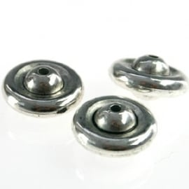 Disc 12mm antiekzilver metallook