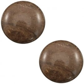 Cabochon Polaris 20mm carrara shiny chestnut brown 19485