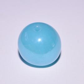Glaskraal 13mm rond ijsblauw