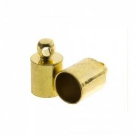 DQ eindkapje voor 4mm metaal goudkleur Pp733