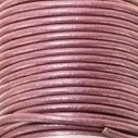 DQ Leer rond 3mm magenta metallic per 20cm