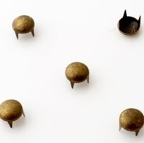 Studs rond 6mm brons 25 stuks