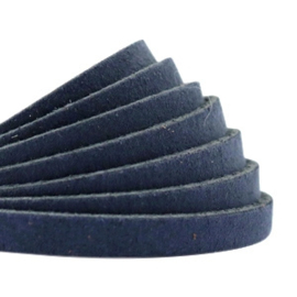 DQ Leer plat 5mm dark denim blue 26863