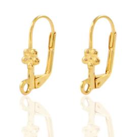 DQ sluitbare oorhaakjes 18x10mm goud nikkelvrij, per paar 71669
