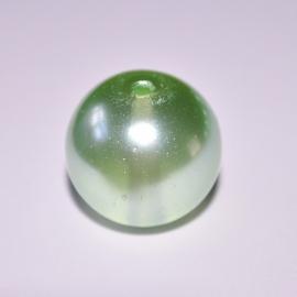 Glasparel 16mm rond lichtgroen