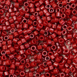 Miyuki delicas 11/0 (2mm) opaque dyed maroon red 654
