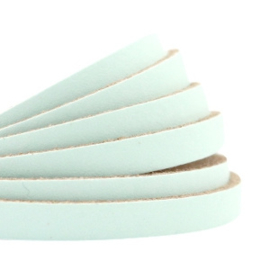 DQ Leer plat 5mm light mint green 26925