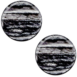 Cabochon Polaris plat 12mm sparkle dust anthracite grey 38670