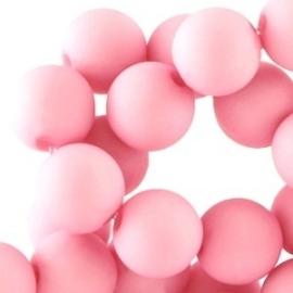 Acrylkraal 8mm rond mat licht roze