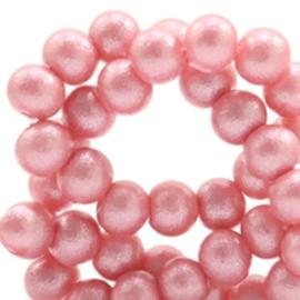 Glaskraal 8mm glitter dust vintage pink 49175