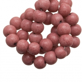 Glaskraal stonewash coral 6mm 10 stuks CE247