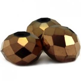 Top facet 4x3mm rondel goud 10 stuks 8538