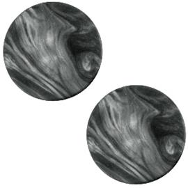 Cabochon Polaris plat 20mm perseo matt black antracite 33830