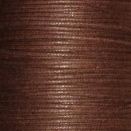 Waxkoord bruin 1mm per meter
