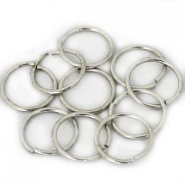 DQ Ringetje 8x1mm 20 stuks antiek zilver 6946