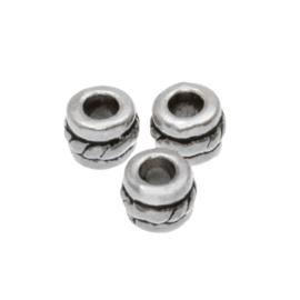 Metalen kralen cilinder 5x4mm K317