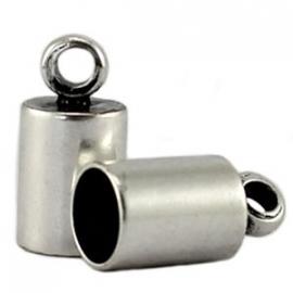 DQ eindkapje voor 6,5mm antiekzilver 8705