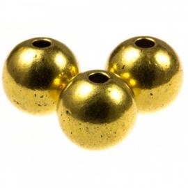Rond 4mm antiek goudkleur metaal