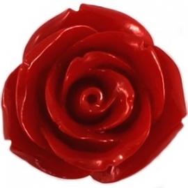 Roosje 15x7mm rood