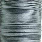 Waxkoord grijs metallic 1mm per meter