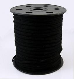 Imitatie suede 3mm zwart