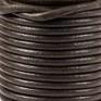 DQ Leer rond 3mm bruin per 20cm