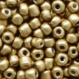 Rocailles 4mm 6/0 restrained gold metallic 56753